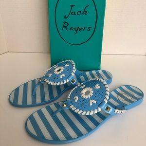 HP🎉Jack Rogers Striped Georgica Jelly Sandals